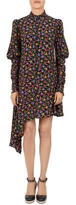 The Kooples Floral Asymmetric Silk Dress