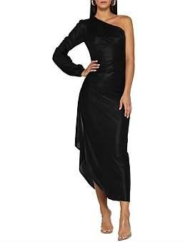 Leon Elle Zeitoune One Shoulder Stretchy Dress, Features Ruffles