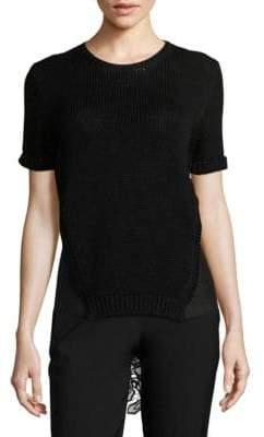 N°21 Crewneck Back Floral Applique Sweater