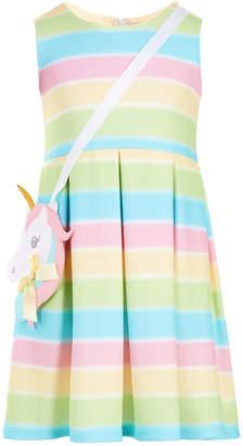 Bonnie Jean Little Girls 2-Pc. Rainbow Pleated Dress & Purse Set