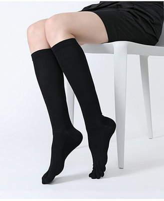 靴下屋 TABIO LEG LABO/(W)綿着圧5本指ハイソックス22-24 クツシタヤ ファッショングッズ