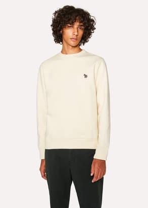 Paul Smith Men's Cream Organic-Cotton Zebra Logo Sweatshirt