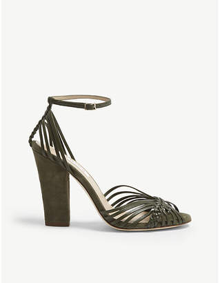 LK Bennett Lilybelle leather and suede sandals