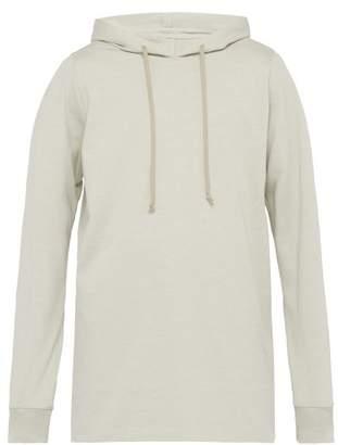 Rick Owens Longline Cotton Hooded Sweatshirt - Mens - Beige