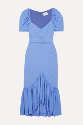 Alice McCall Slow Dreams Ruffled Polka-dot Crepe Midi Dress - Blue