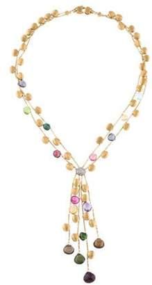 Marco Bicego 18K Multistone & Diamond Lavalier Bead Necklace yellow 18K Multistone & Diamond Lavalier Bead Necklace