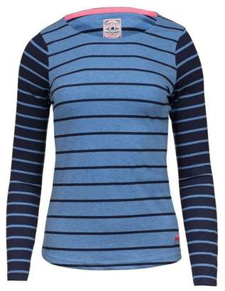 Raging Bull - Navy And Sky Long Sleeves Striped Top