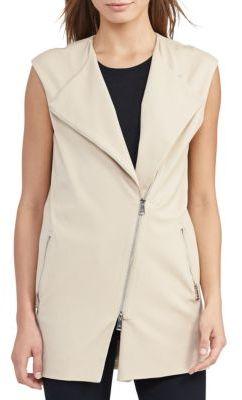 Lauren Ralph Lauren Cotton-Blend Roundneck Vest $195 thestylecure.com