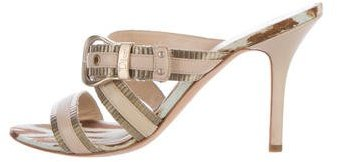 Christian Dior Buckle-Accented Slide Sandals