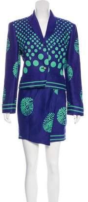 Versus Vintage Linen Skirt Suit
