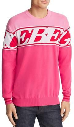 Iceberg Color-Block Pink Panther Logo Sweater