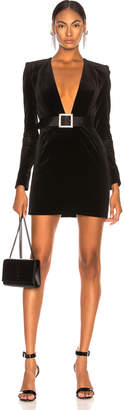 Alexandre Vauthier Velvet Mini Dress