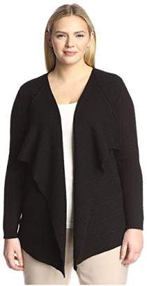 Society New York Plus Women's Cable Cascade Cardigan