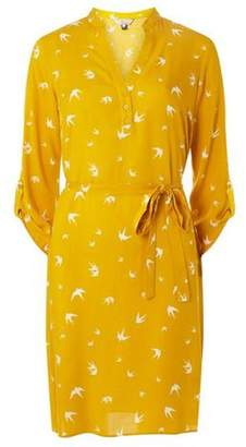 Dorothy Perkins Womens **Billie & Blossom Yellow Swallow Shirt Dress
