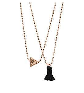 Dear Addison Lilac Necklace In Rose Gold Plated Brass