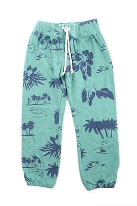 Monrow Kids Green Hawaiin Vintage Sweatpants