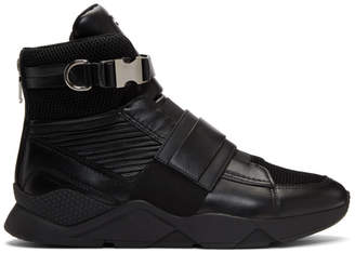 Balmain Black Exton High-Top Sneakers