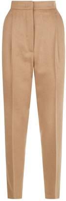 Max Mara Camel Straight Leg Trousers