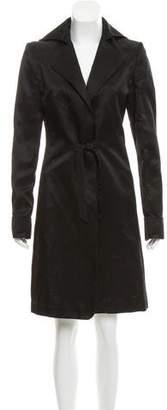 Nina Ricci Notch-Lapel Knee-Length Coat