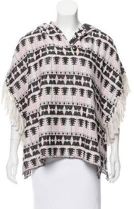 Thakoon Fringe Accented Hooded Poncho