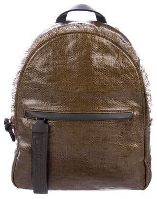 Brunello Cucinelli Coated Canvas Backpack w/ Tags