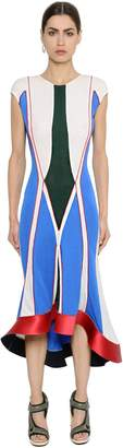 Esteban Cortazar Geometric Thick Jersey Dress