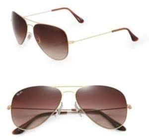 Ray-Ban Plastic& Metal Aviator Sunglasses