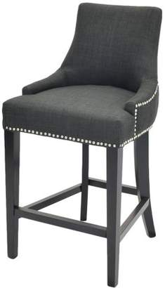 NPD Charlotte Fabric Counter Stool With Nailhead Trim, Multiple Colors