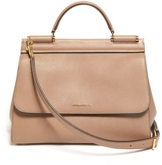 4182cf2b30d9 Dolce & Gabbana Sicily Small Leather Bag - Womens - Dusty Pink