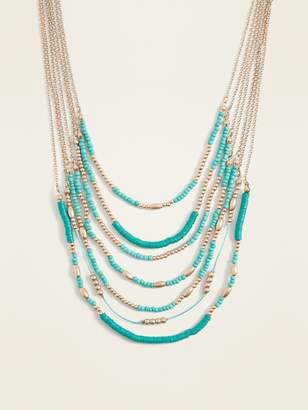 Old Navy Beaded Multi-Strand Necklace for Women