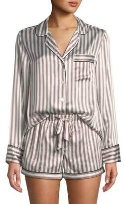 Neiman Marcus Candy Stripe Silk Short Pajama Set
