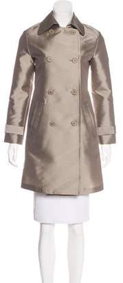 Emporio Armani Double-Breasted Knee-Length Coat