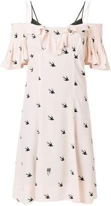 McQ swallow print dress