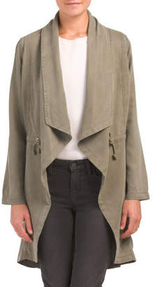 Long Drape Front Jacket