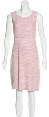 St. John Wool-Blend Textured Dress Set