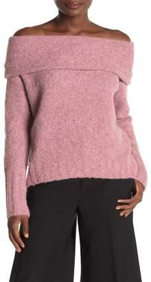 Vince Off-the-Shoulder Knit Sweater
