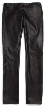 Girl's Faux Leather Leggings $62 thestylecure.com