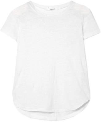 Frame Slub Linen T-shirt - White