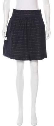 Robert Rodriguez Mesh Striped Mini Skirt