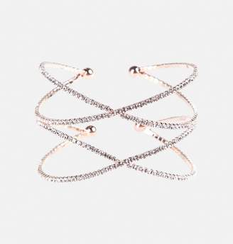Avenue Stone Double Cross Cuff Bracelet