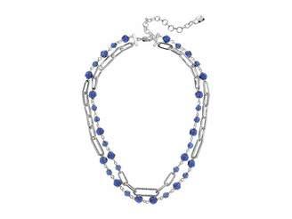 Lauren Ralph Lauren 16 2 Row Bead Link Collar Necklace