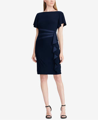 American Living Satin-Trim Ruffled Dress