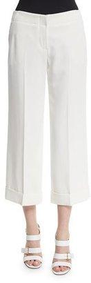 Trina Turk Wide-Leg Cropped Pants, Whitewash $124 thestylecure.com