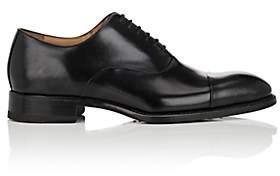 Harris Men's Cap-Toe Leather Balmorals-Black