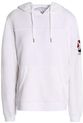 Zoe Karssen Appliquéd Cotton-Blend Terry Hooded Sweatshirt