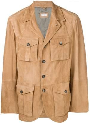 Brunello Cucinelli multi-pocket leather jacket