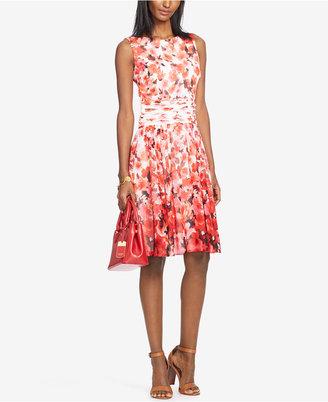 Lauren Ralph Lauren Floral-Print Georgette Dress $155 thestylecure.com