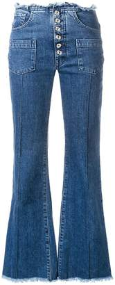 Marques Almeida Marques'Almeida Marques'Almeida x 7 For All Mankind flared trousers