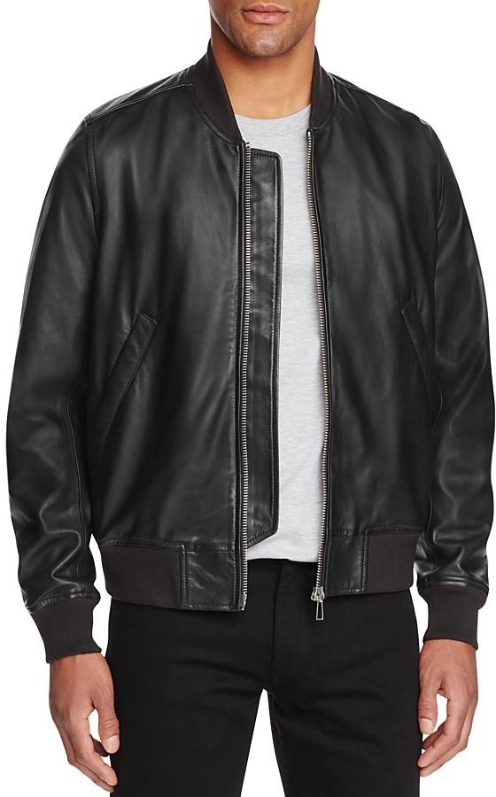 Paul SmithPaul Smith Gents Leather Bomber Jacket
