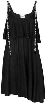 Dondup layered logo strap dress